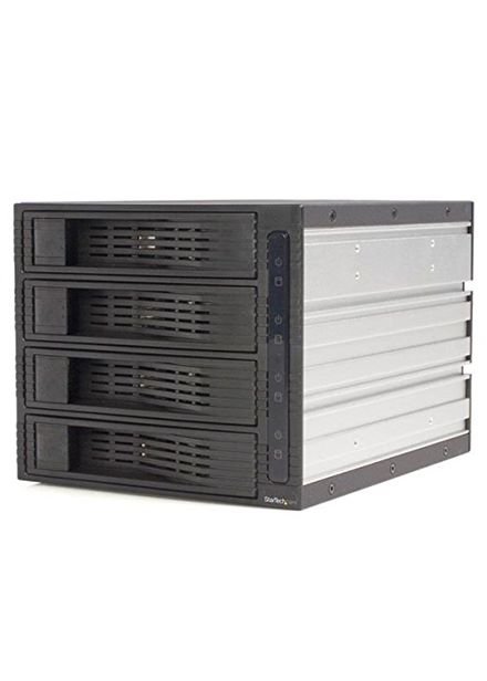 Compare prices for StarTech 4 Drive 3.5in Trayless Hot Swap SATA Mobile Rack Backplane Storage drive cage