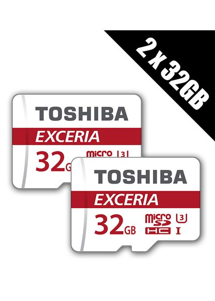 Compare prices for Toshiba 32 GB EXCERIA M302 Micro SDHC UHS-I Class 3 Cards with Adapters Multi-pack of 2 x THN-M302R0320EA x 2