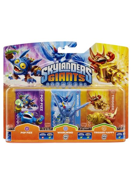 Compare cheap offers & prices of Skylanders Giants Figures - Triple Pack A - Pop Fizz / Whirlwind / Trigger Happy Wii/PS3/Xbox 360/PC manufactured by Skylanders