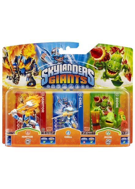 Compare cheap offers & prices of Skylanders Giants Figures - Triple Pack - Chill - Zook - Ignitor Wii/PS3/Xbox 360/PC manufactured by Skylanders