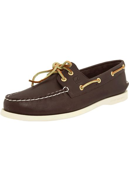 Sperry A/O Mens 2-Eye Top Sider Classic Brown Boat Shoes
