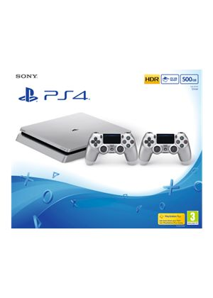 Limited Edition- PlayStation 4 Console 500GB- Silver (PS4)