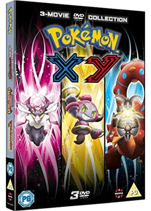 Pokémon Movie 17-19 Collection: XY (Diancie and the Cocoon of Destruction,  Hoopa and the Clash of Ages, Volcanion and the Mechanical Marvel) [DVD]