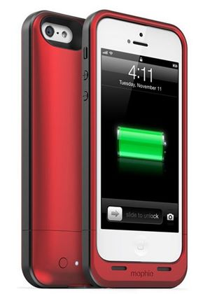 new product 907a1 dab8e Mophie Juice Pack Plus 2100mAh Extended Battery Charging Case for Apple  iPhone 5/5s/SE in Red