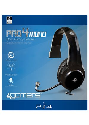 Officially Licensed Pro4 Mono Gaming Headset Ps4