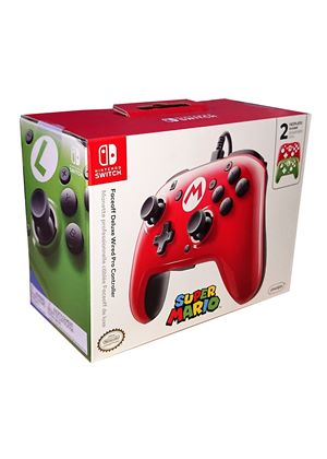 Faceoff Deluxe Wired Pro Controller Super Mario Edition