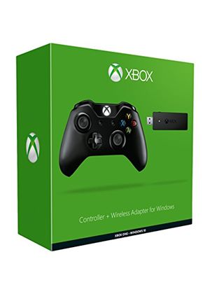 Microsoft Xbox One Controller + Wireless Adapter for Windows 10