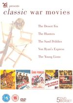 Image of Studio Classic: Classic War Movies (Box Set) Von Ryans Express, The Young Lions, The Hunters, The Sand Pebbles,The Desert Fox