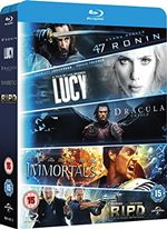Blu-ray Starter Pack - Includues Lucy Dracula Untold 47 Ronin Immortals R.I.P.D 8304472