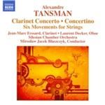 Alexandre Tansman Clarinet Concerto Concertino Six Movements for Strings (Music CD)