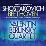 Shostakovich String Quartet No. 3 Beethoven String Quartet No. 2 Rasumovsky (Music CD)
