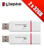 Compare retail prices of 2 x Kingston Technology 32GB DataTraveler USB 3.0 Drives (Multipack of 2 x DTIG4/32GB Drives) to get the best deal online