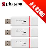Compare retail prices of 3 x Kingston Technology 32GB DataTraveler USB 3.0 Drives (Multipack of 3 x DTIG4/32GB Drives) to get the best deal online