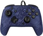 PDP Faceoff Deluxe+ Audio Wired Controller - Camo Blue (Nintendo Switch)