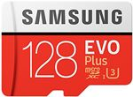 Image of Samsung EVO Plus microSD 100MBs Memory Card with Adapter 128GB