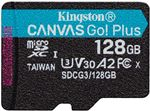 Image of Kingston Canvas Go Plus 128GB microSDXC Card 170MB/s Read A2 U3 V30 (Card Only)
