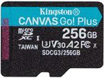Image of Kingston Canvas Go Plus 256GB microSDXC Card 170MB/s Read A2 U3 V30 (Card Only)