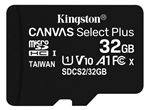 Image of Kingston Canvas Select Plus 32GB microSDHC Card (card only)