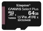 Image of Kingston Canvas Select Plus 64GB microSDHC Card (card only)