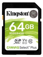 Image of Kingston Canvas Select Plus 64GB SDXC SD Card