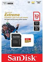 SanDisk 32 GB Extreme Micro SDHC Card 100MBs with Adapter for Action Cameras (SDSQXAF-032G-GN6AA)