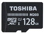 Image of Toshiba M203 128GB MicroSDXC Class 10 U1 100MB/s with SD Adapter