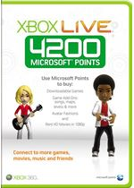 Carte Xbox Live 4200 Microsoft points (xbox 360)